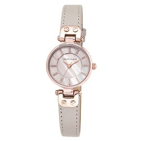 Anne Klein Ladies' Taupe Leather Strap Watch - Product number 8887705