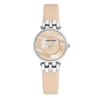Anne Klein Ladies' Light Pink Leather Strap Watch - Product number 8889538