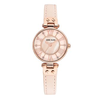 Anne Klein Ladies' Pink Leather Strap Watch - Product number 8890749