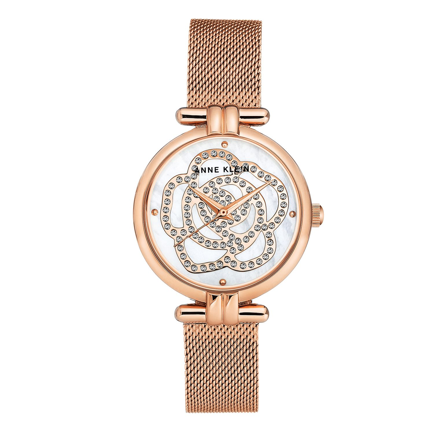 Anne Klein Ladies' Rose Gold Tone Mesh Bracelet Watch - Product number 8891389