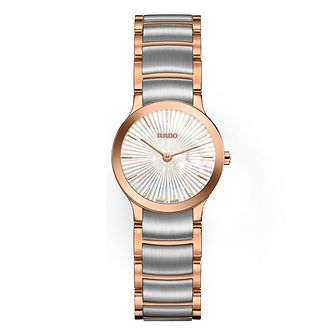 Rado Centrix Ladies' Two Tone Mother Of Pearl Watch - Product number 8896690