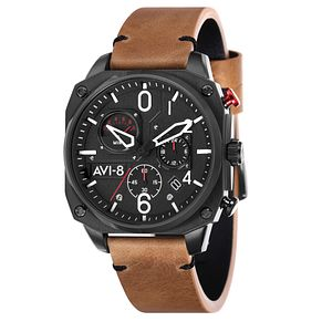 AVI-8 Mens Hawker Hunter Brown Leather Strap Watch - Product number 8901880