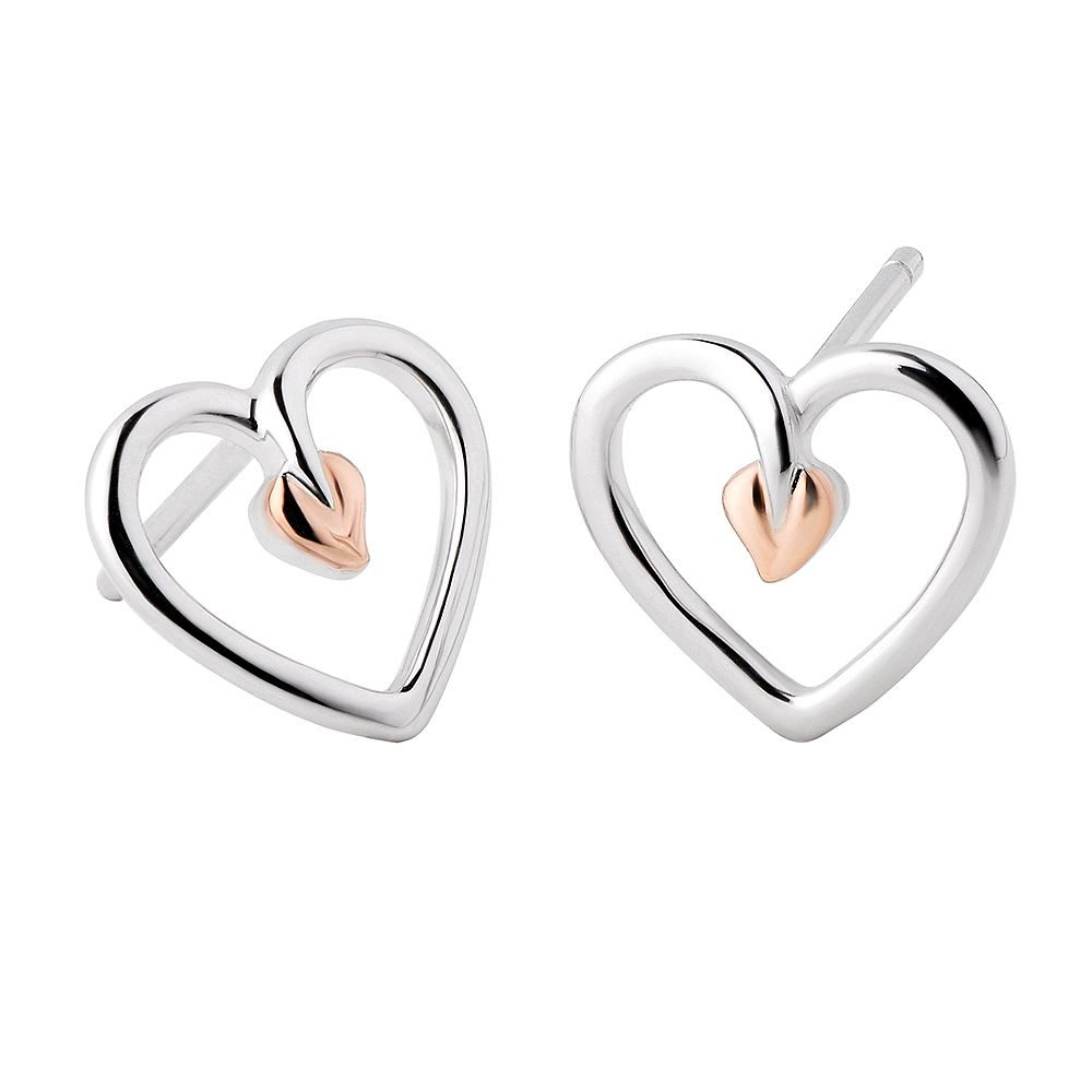 Clogau 9ct Rose Gold And Silver Stud Earrings - Product number 8908745