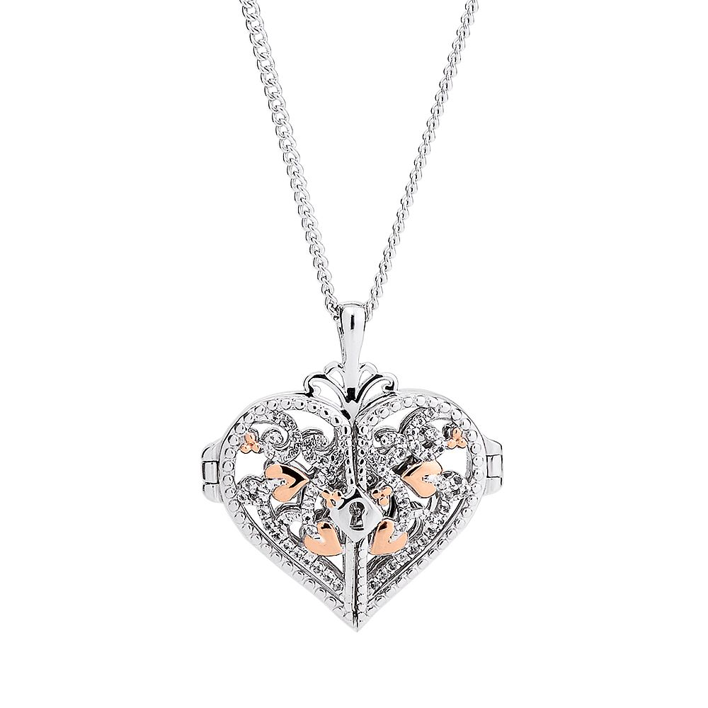 Clogau 9ct Rose Gold And Silver Heart Locket - Product number 8908869