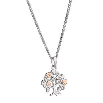 Clogau 9ct Rose Gold And Silver Tree Pendant - Product number 8909172