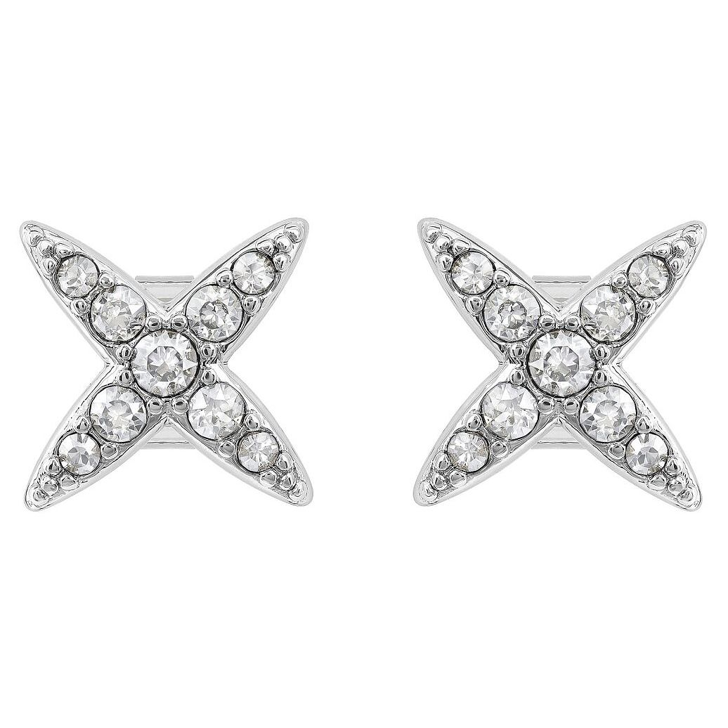 Adore Ladies' Rhodium Plated 4 Point Star Earrings - Product number 8919518