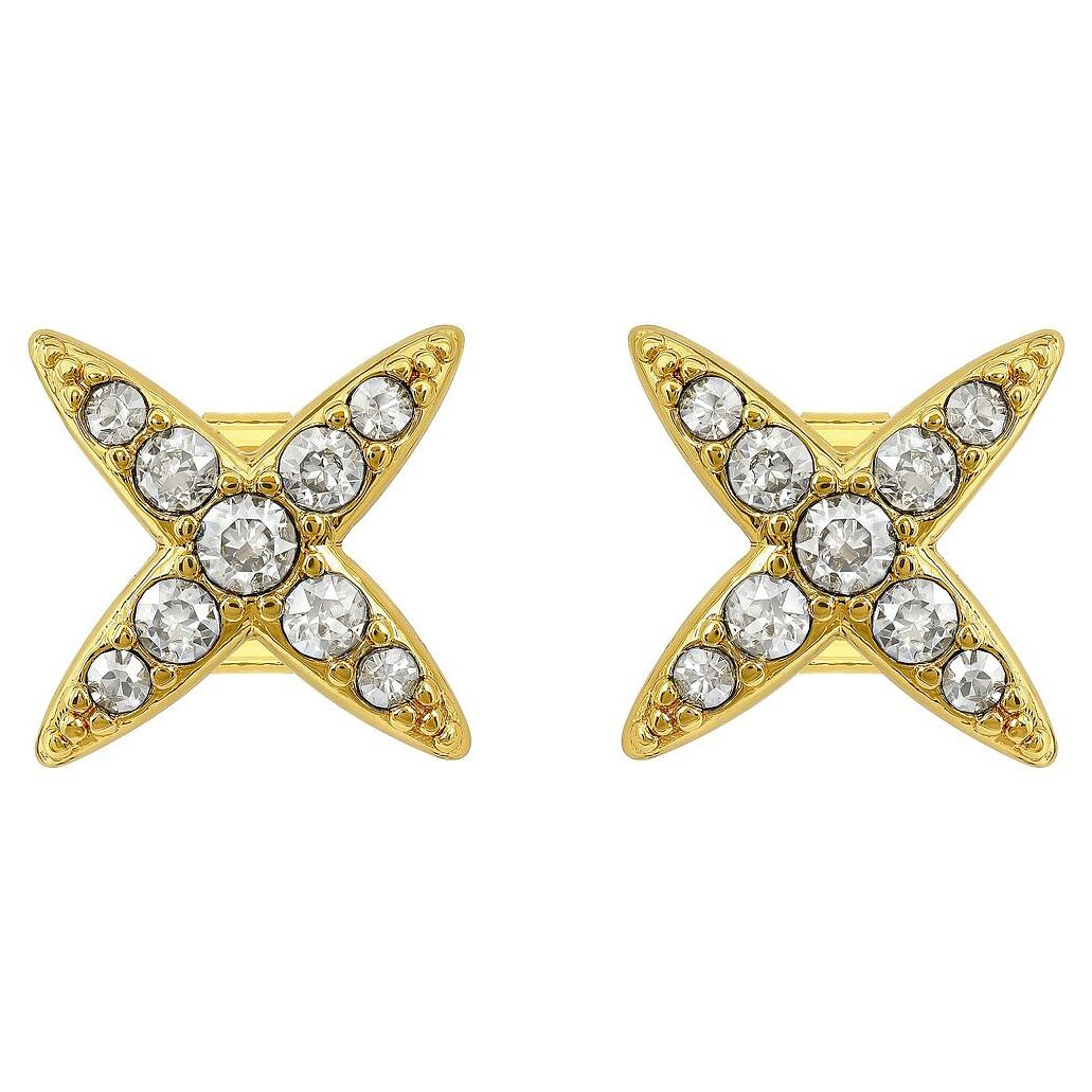Adore Ladies' Yellow Gold Plated 4 Point Star Earrings - Product number 8919526