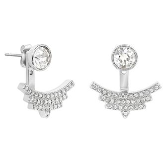 Adore Ladies' Rhodium Pave Arc Jacket Earrings - Product number 8919534