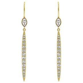 Adore Ladies' Yellow Gold Plated Linear Drop Earrings - Product number 8919569