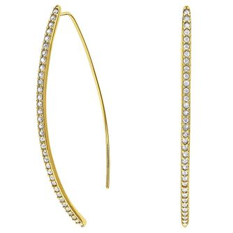 Adore Ladies' Yellow Gold Plated Pave Arc Earrings - Product number 8919585