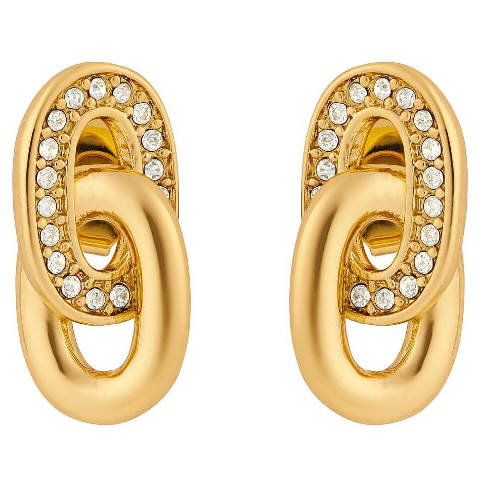 Adore Ladies' Yellow Gold Plated Oval Link Earrings - Product number 8919607