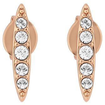Adore Ladies' Rose Gold Plated Crystal Navette Stud Earrings - Product number 8919631