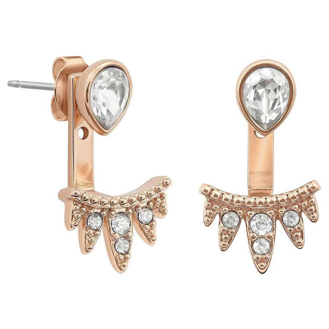 Adore Ladies' Rose Gold Plated Teardrop Jacket Earrings - Product number 8919674