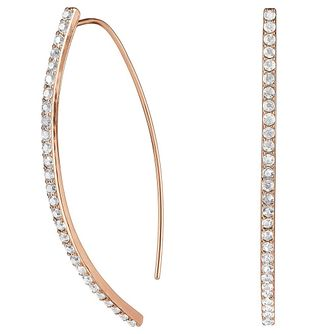 Adore Ladies' Rose Gold Plated Pave Arc Earrings - Product number 8919712