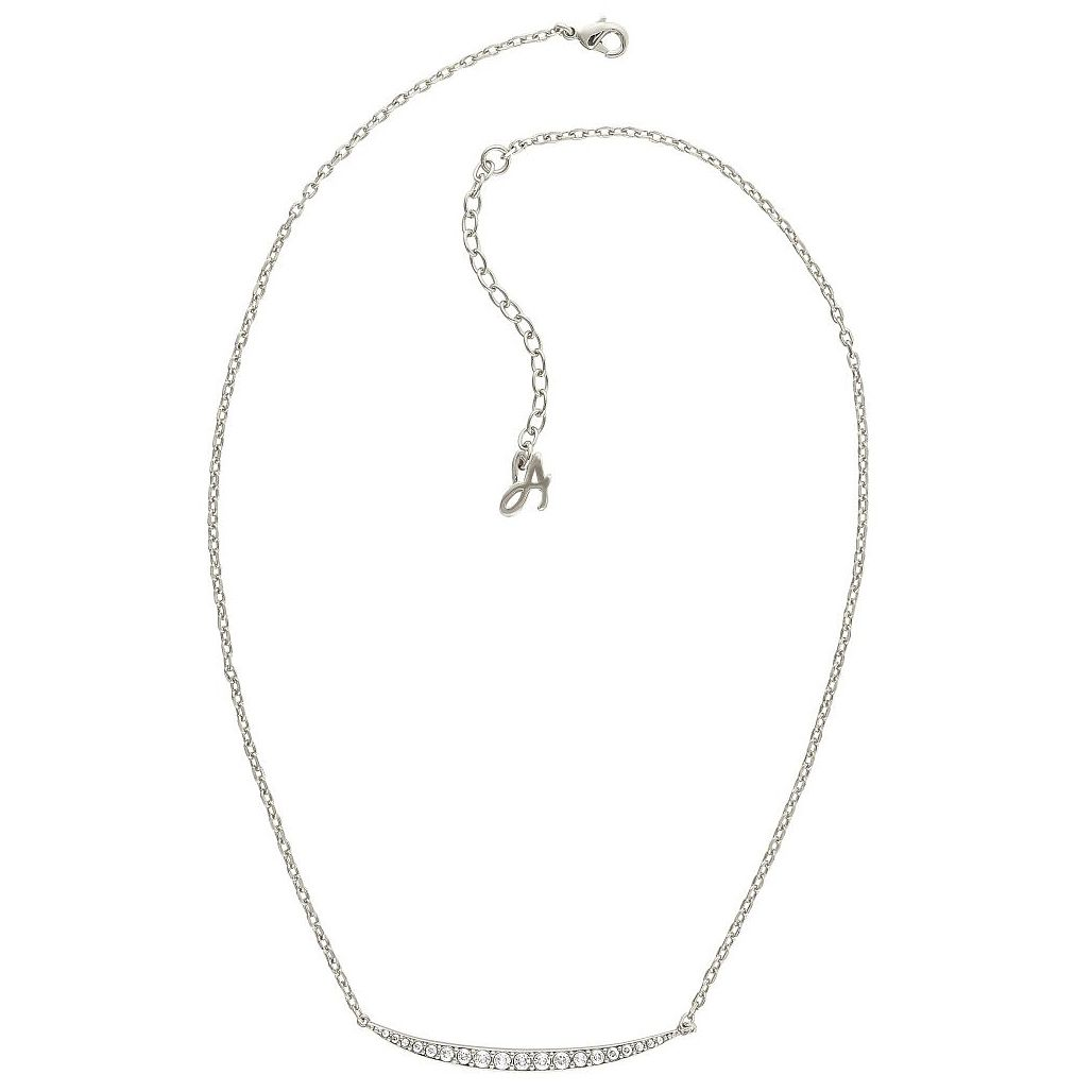 Adore Ladies' Rhodium Plated Curved Bar Necklace - Product number 8919755