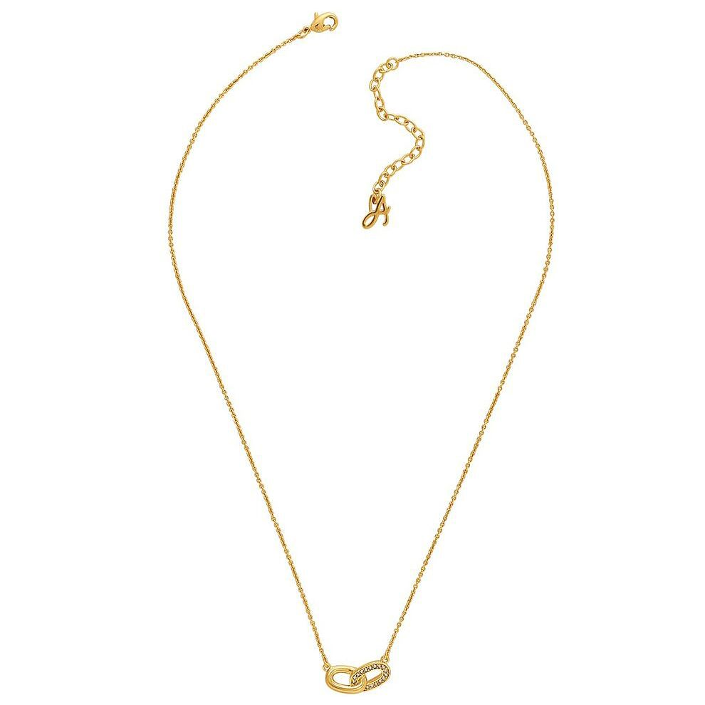 Adore Ladies' Yellow Gold Plated Oval Link Necklace - Product number 8919860