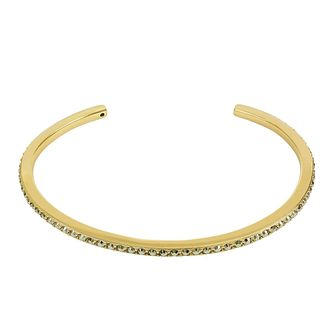 Adore Ladies' Yellow Gold Plated Skinny Pave Bangle - Product number 8919984