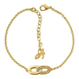 Adore' Ladies Yellow Gold Plated Link Bracelet - Product number 8920052