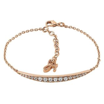 Adore' Ladies Rose Gold Plated Curved Bar Bracelet - Product number 8920087