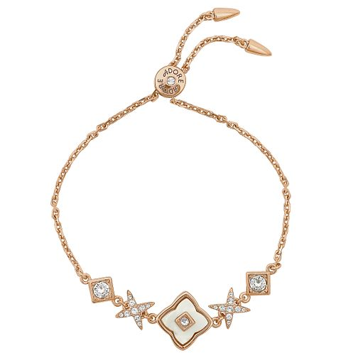 Adore Ladies' Rose Gold Tone Floret Adjustable Bracelet - Product number 8920109