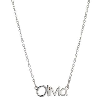 Children's Sterling Silver Olivia Name Necklace 14 inches - Product number 8920168