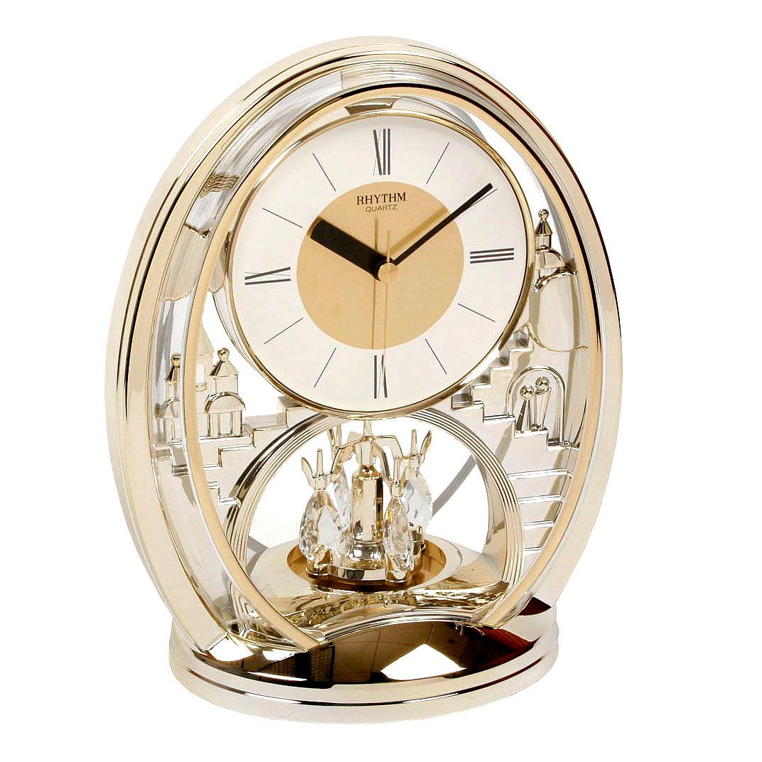 WM. Widdop Rhythm Oval Quartz Mantle Clock - Product number 8921733