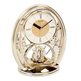 WM. Widdop Rhythm Oval Quartz Mantel Clock - Product number 8921733