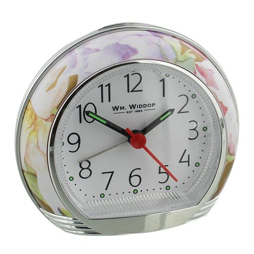 WM. Widdop Floral Alarm Clock - Product number 8921741
