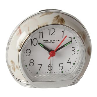 WM. Widdop Pink Floral Alarm Clock - Product number 8921768