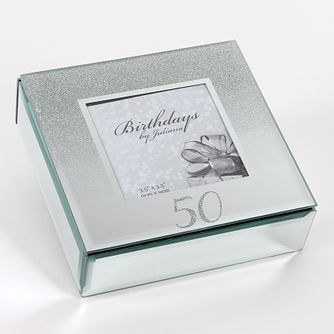Birthdays by Juliana 50th Mirrored Trinket Box - Product number 8922306