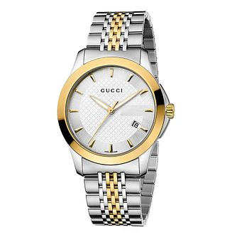 3292747999e Gucci G-Timeless two-tone bracelet watch - Product number 8941122