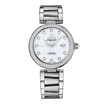 Omega Ladymatic Ladies' diamond bracelet watch - Product number 8947031
