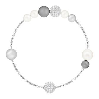 Swarovski Remix Ladies' Rhodium and Crystal Pearl Bracelet - Product number 8953333