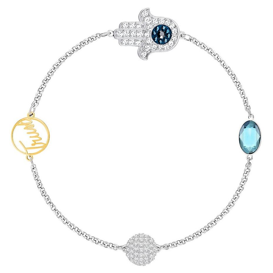 Swarovski Remix Ladies' Hamsa Mixed Crystal Bracelet - Product number 8953546