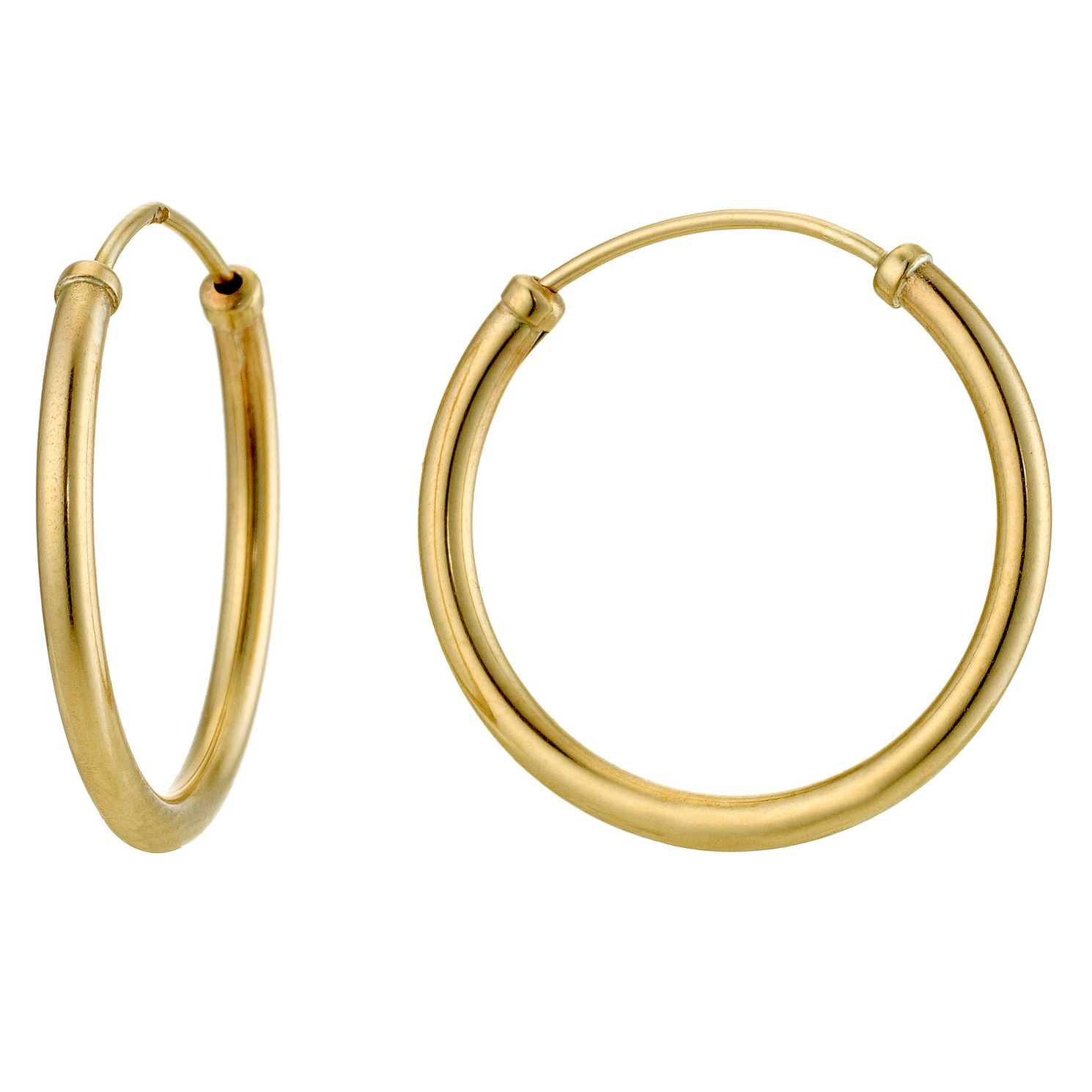9ct Yellow Gold 15mm Sleeper Earrings - Product number 8959749