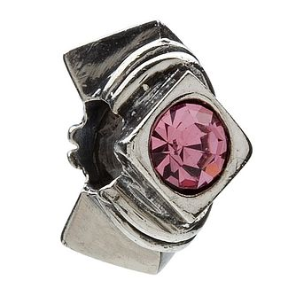 Chamilia Diamond Shape Silver & Pink Cubic Zirconia Bead - Product number 8982953