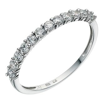 9ct white gold half eternity ring - Product number 8985545