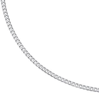 Sterling Silver 20 Inch Flat Curb Chain - Product number 9001689