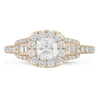 Neil Lane Bridal 14ct Yellow Gold 0.90ct Diamond Halo Ring - Product number 9002340