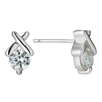 Classic Silver & Cubic Zirconia Kiss Studs - Product number 9003967