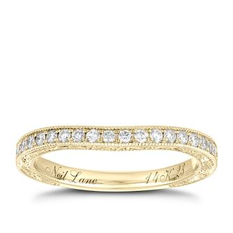 Neil Lane 14ct Yellow Gold 0.23ct Diamond Shaped Band - Product number 9006370