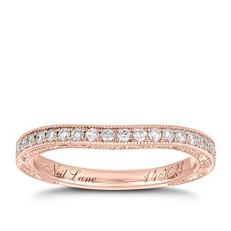 Neil Lane 14ct Rose Gold 0.23ct Diamond Shaped Band - Product number 9007016