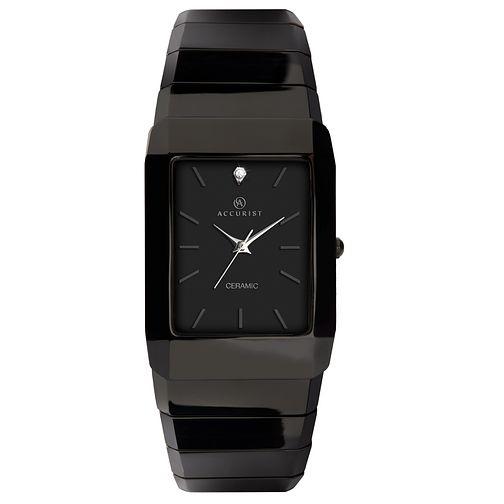 e3b67d90d Accurist Men's Black Ceramic Bracelet Watch - Product number 9012834