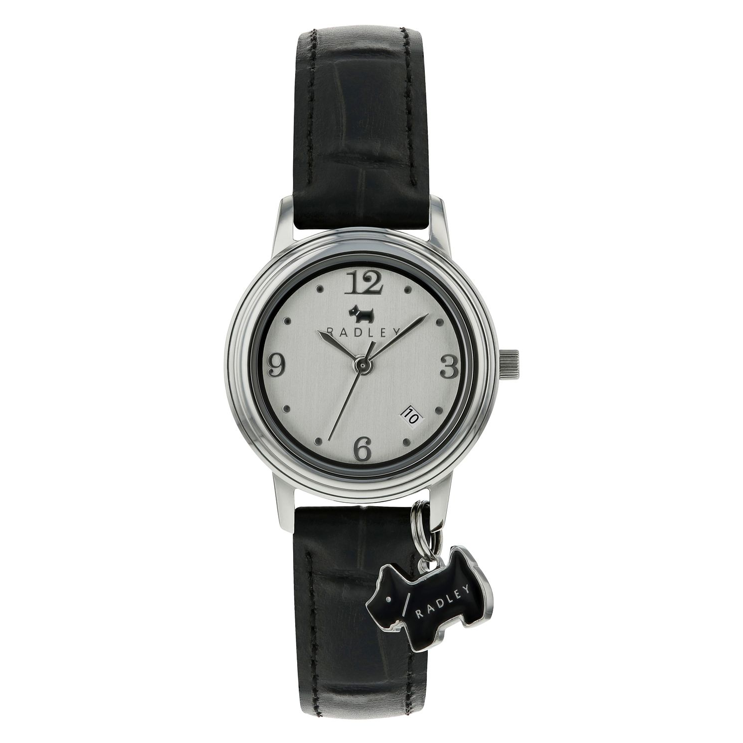 Radley Ladies' Black Dog Charm Watch - Product number 9014144