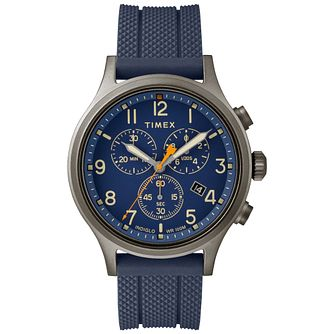 Timex Allied Chronograph Men's Blue Resin Strap Watch - Product number 9017577