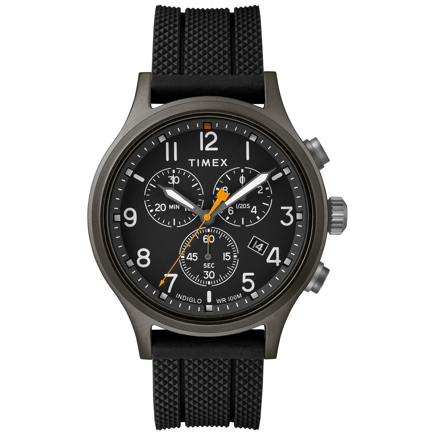Timex Allied Chronograph Men'S Black Resin Strap Watch - Product number 9017585
