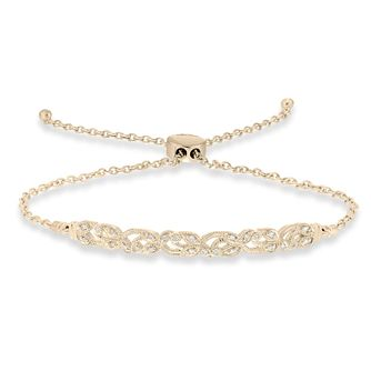 Neil Lane 14ct Yellow Gold 0.10ct Adjustable Bracelet - Product number 9018484