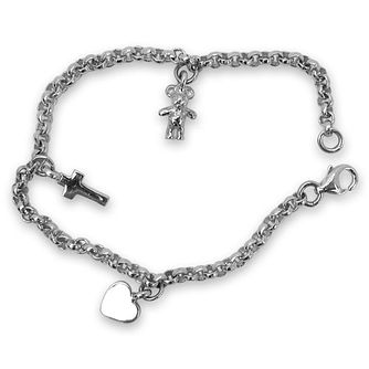 Children's Silver Plated Charm Bracelet - Product number 9020284