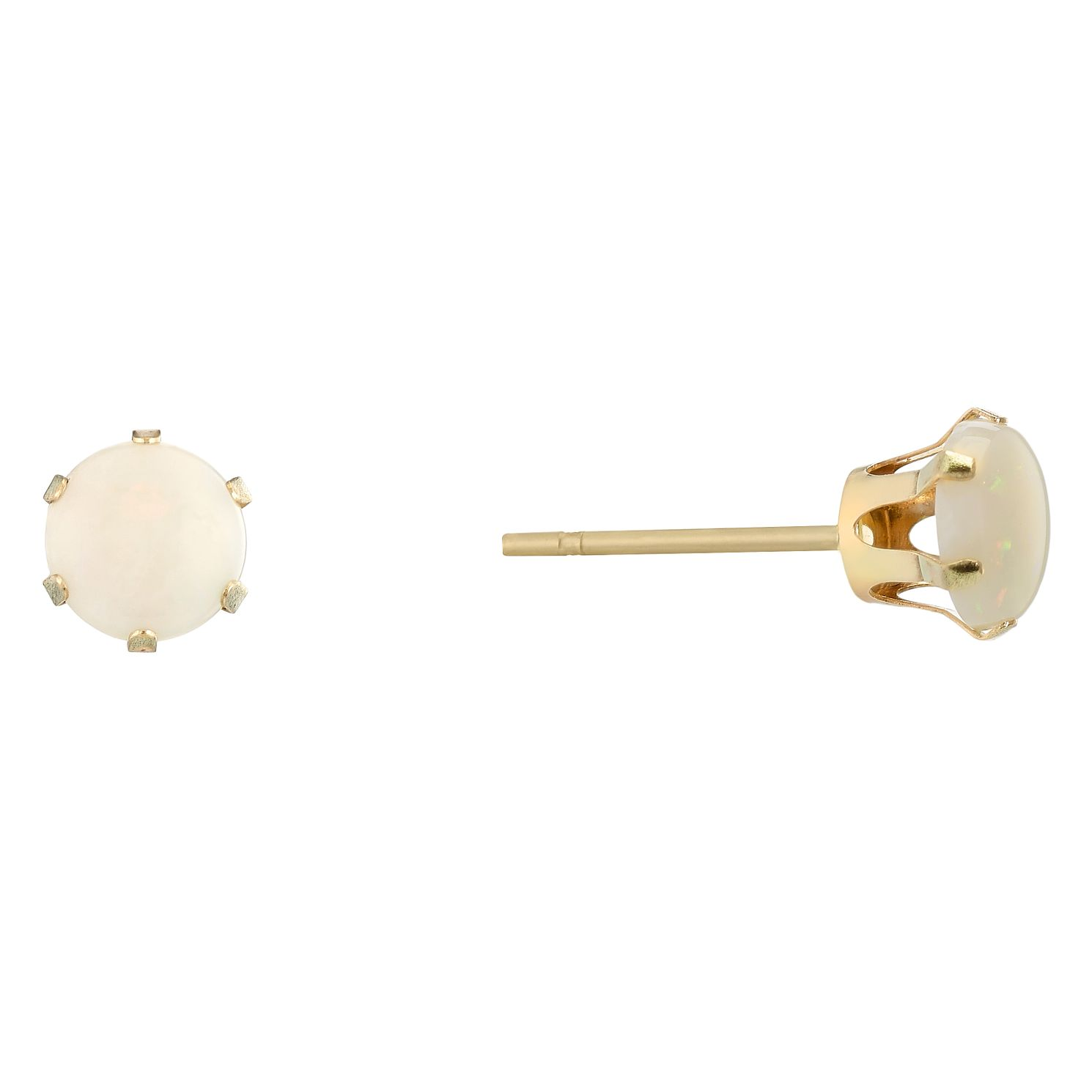 9ct Yellow Gold Opal Stud Earrings - Product number 9020551