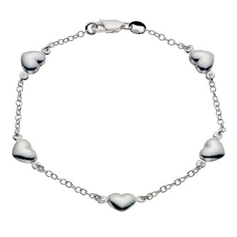 Silver Heart Station Bracelet - Product number 9027033